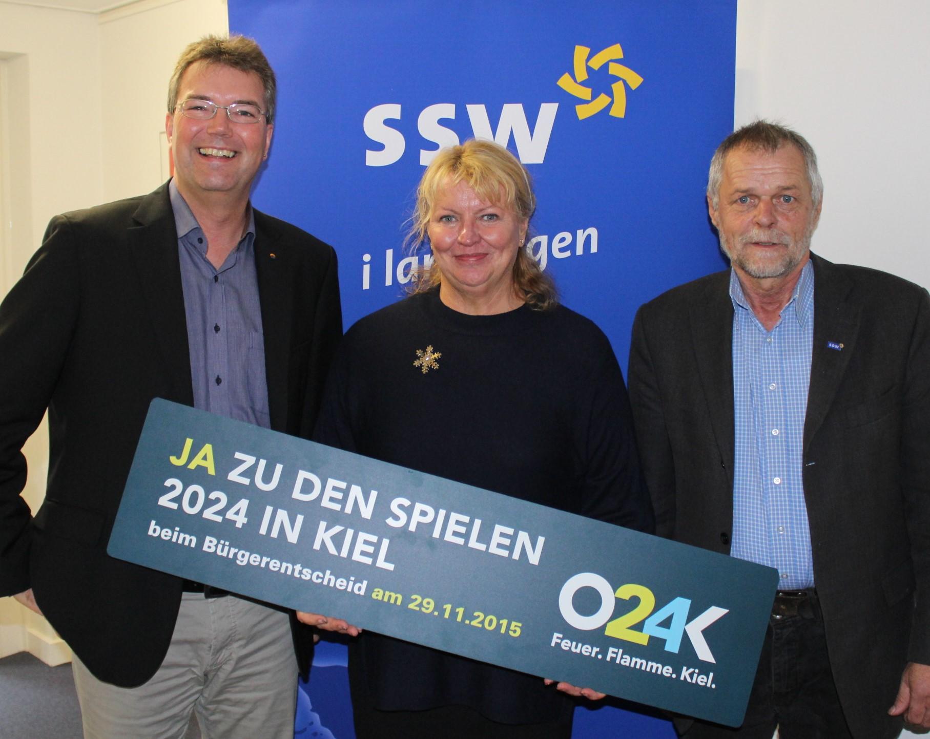 Lars Harms, Jette Waldinger-Thiering und Flemming Meyer
