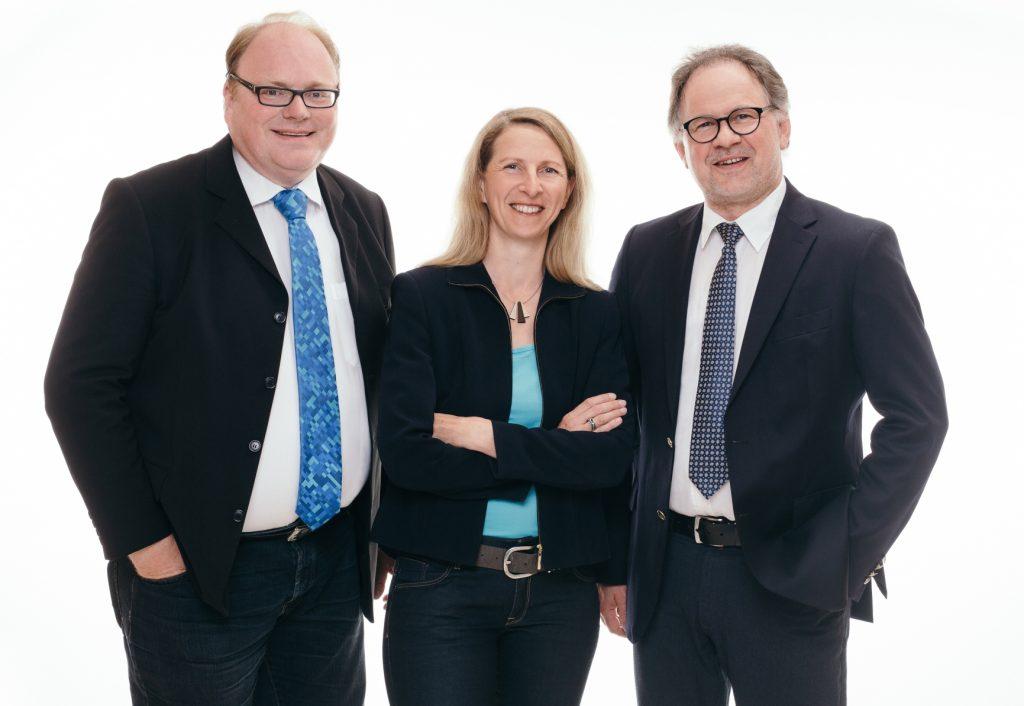 Die Ratsfraktion des SSW in Kiel: Sven Christian Seele, Susanna Swoboda (stellv. Vorsitzende), Marcel Schmidt (Vorsitzender)